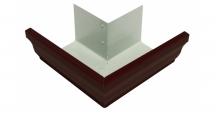 Водосток Vortex прямоугольный в цвете RAL 8017 шоколад в Белгороде Угол 90 градусов